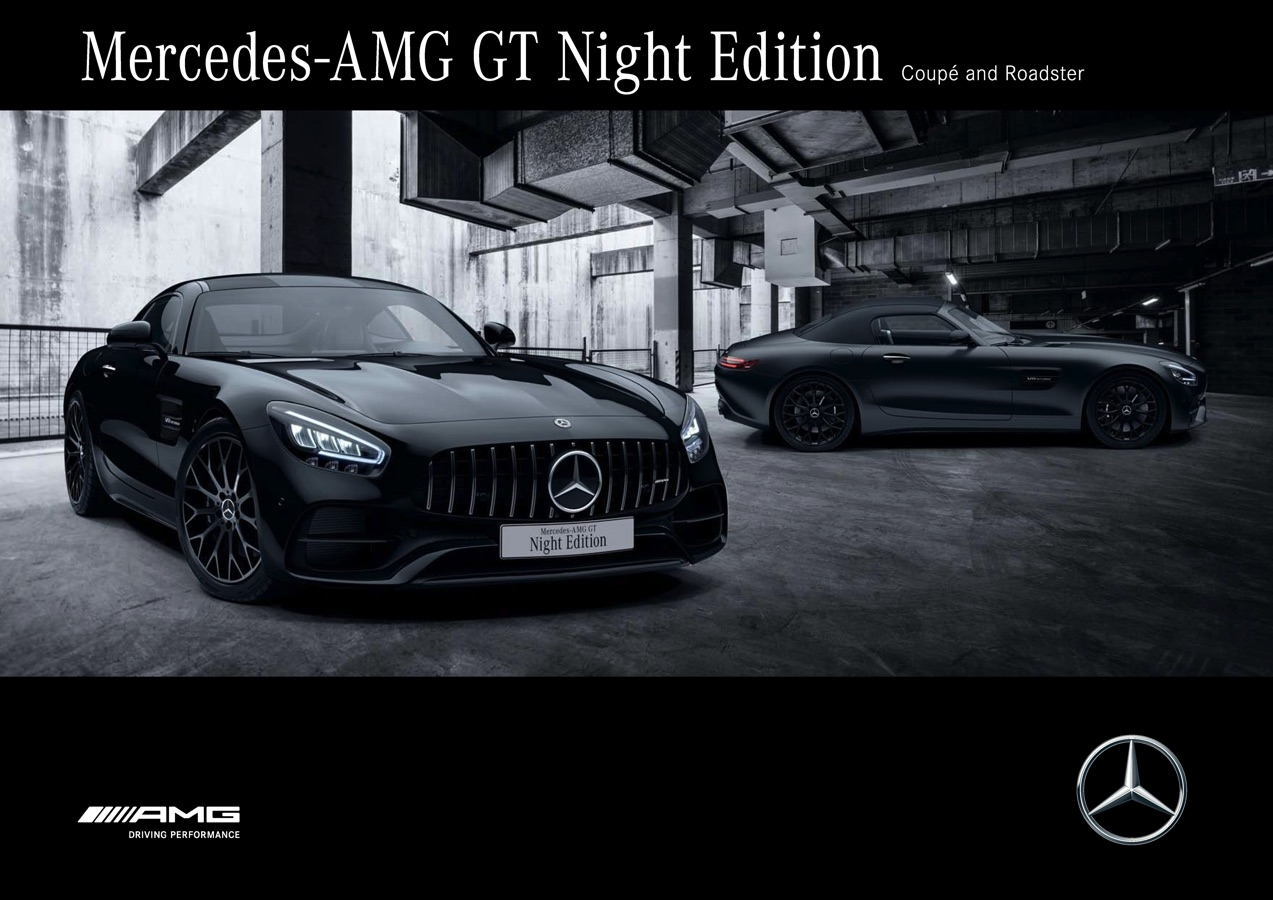 Mercedes Amg Gt Night Edition Coupe And Roadster